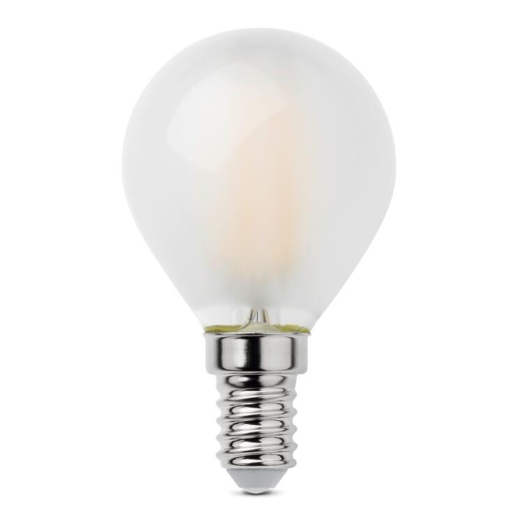 LED-Filament-Kugellampe E14, E14 4,5 W