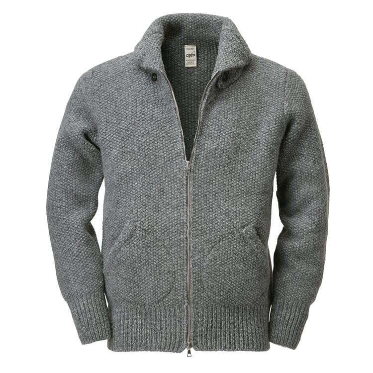 GRP Men's Knit Blouson, Grey