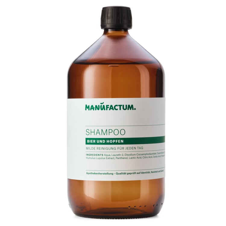 Shampoo by Manufactum Beer and Hop Extracts 1 l glass bottle