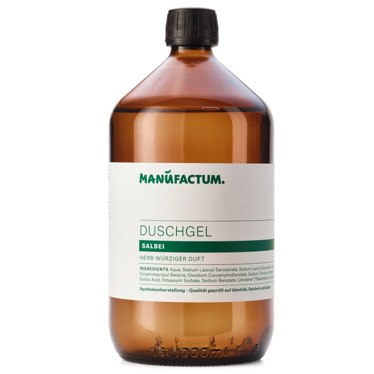 Shower Gel by Manufactum Sage 1 l glass bottle