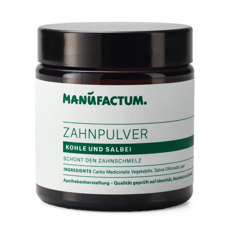 Toothpowder by Manufactum, Charcoal and Sage