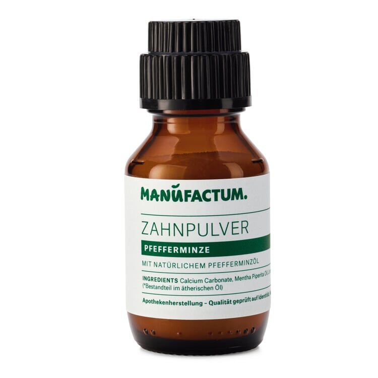 Manufactum Zahnpulver Pfefferminze 50-ml-Glasflasche