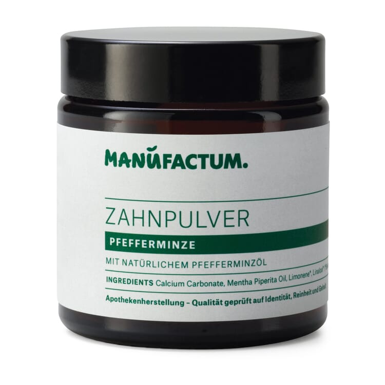 Toothpowder by Manufactum, Calcium Carbonate and Peppermint Oil