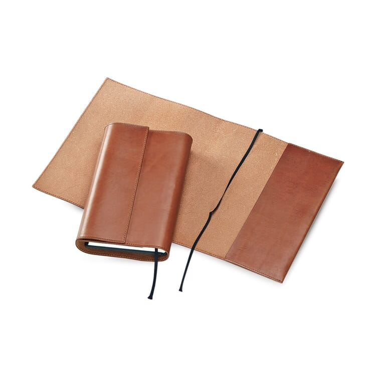 Calf Leather Book Jacket, 22 x 42,5 cm