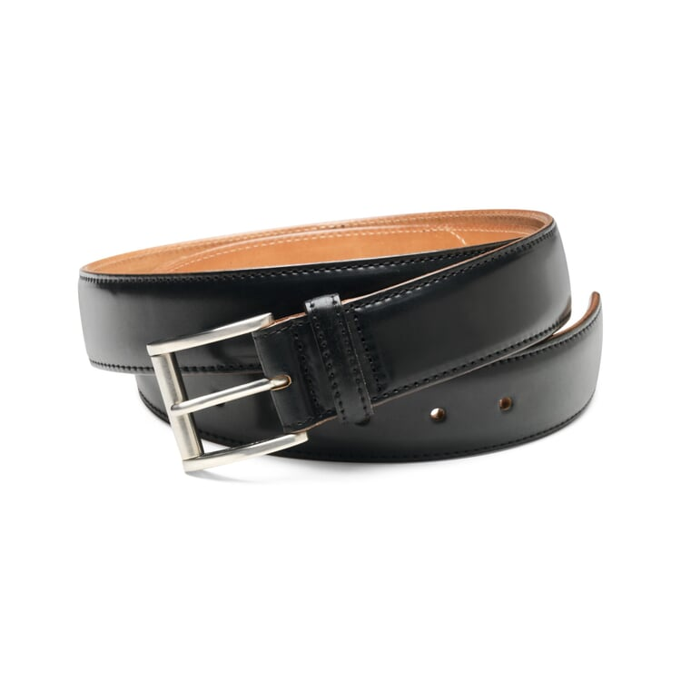 Men's Narrower Horse Leather Belt Black