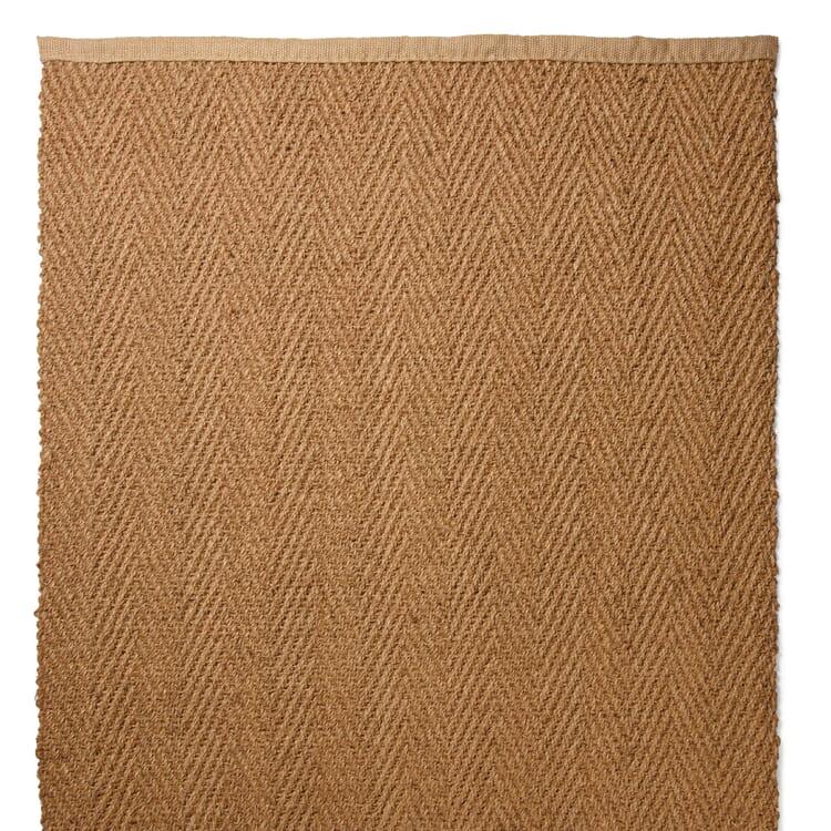 Herringbone Coconut Fiber Carpet, Nature