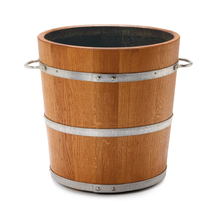 Saxonian oak wood planting bucket Ø 45 cm