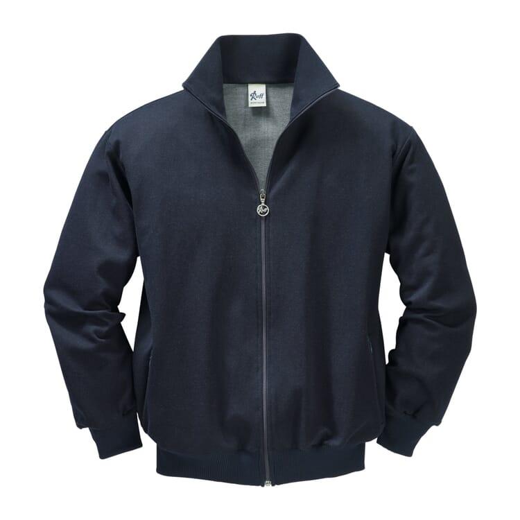 Ruff Cotton Silk Training Jacket, Dark blue