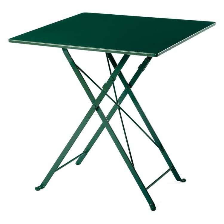Balkonklapptisch Stahl quadratisch 70 x 70 cm Grün