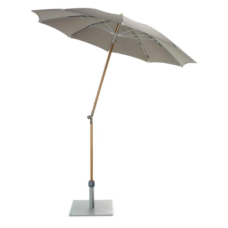 Small Parasol Made of Ash Wood, Stone Grey