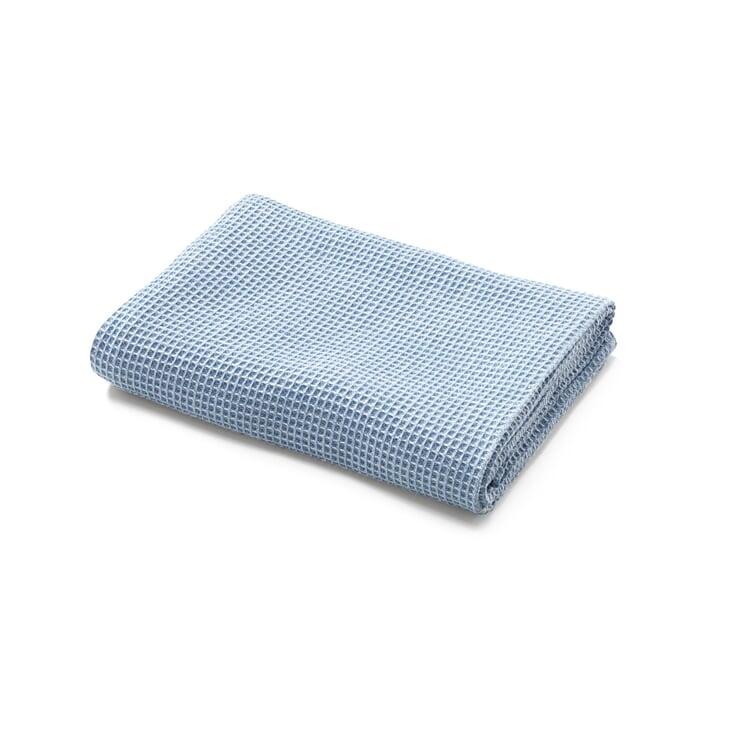 Badetuch Waffelpiqué Halbleinen Blau