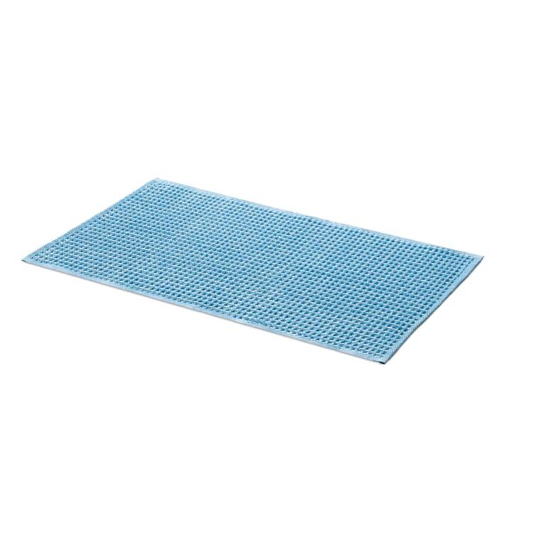 Bath Mat Waffle Fabric Made of Half Linen