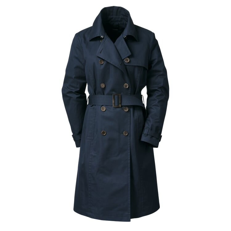 EtaProof® Women's Trench Coat Dark Blue