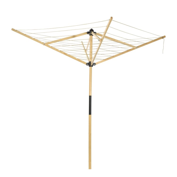 Rotary Clothes Dryer Made of Wood