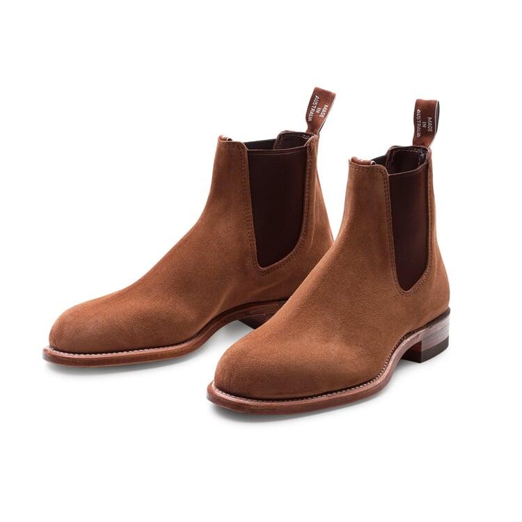 R. M. Williams Men's Suede Chelsea Boot Medium Brown