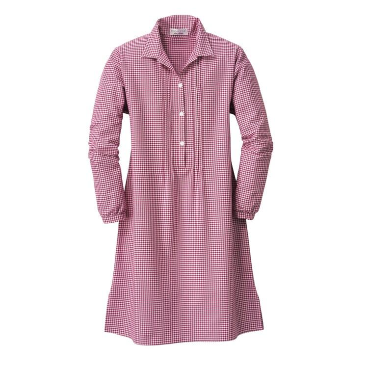 Novila Damennachthemd Flanell, Rot