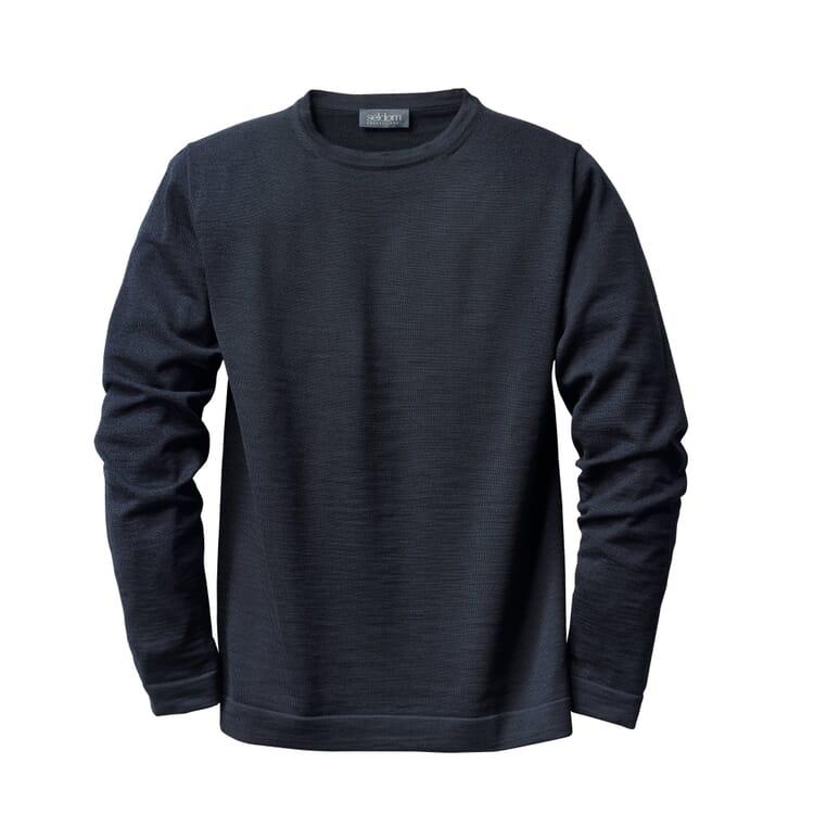 Seldom Men's Crew Neck Sweater, Dark blue