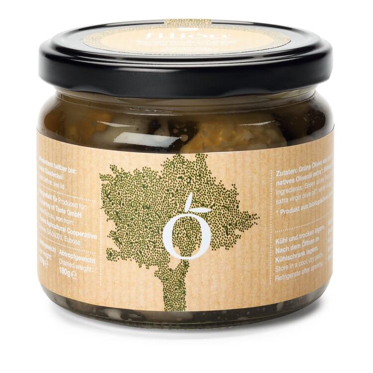Bio-Grüne Konservolea Oliven aus Griechenland