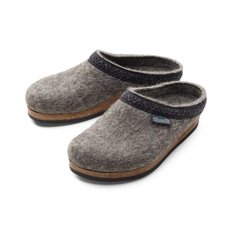 Stegmann Pecora della Roccia Tirolese House Shoes, Grey