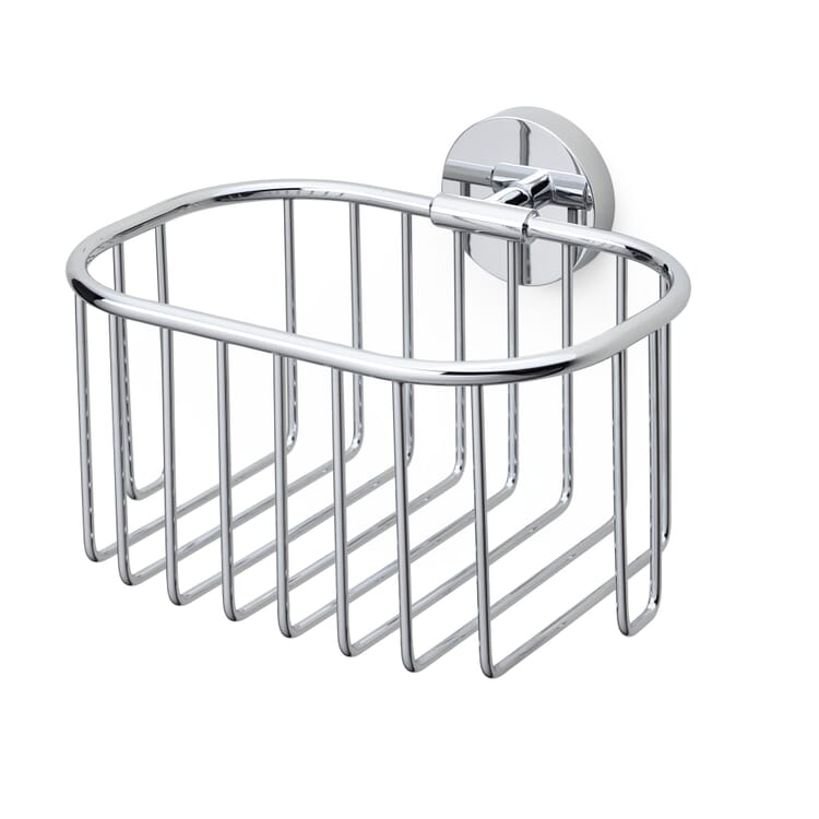 Shower Basket Made of Chrome-Plated Brass