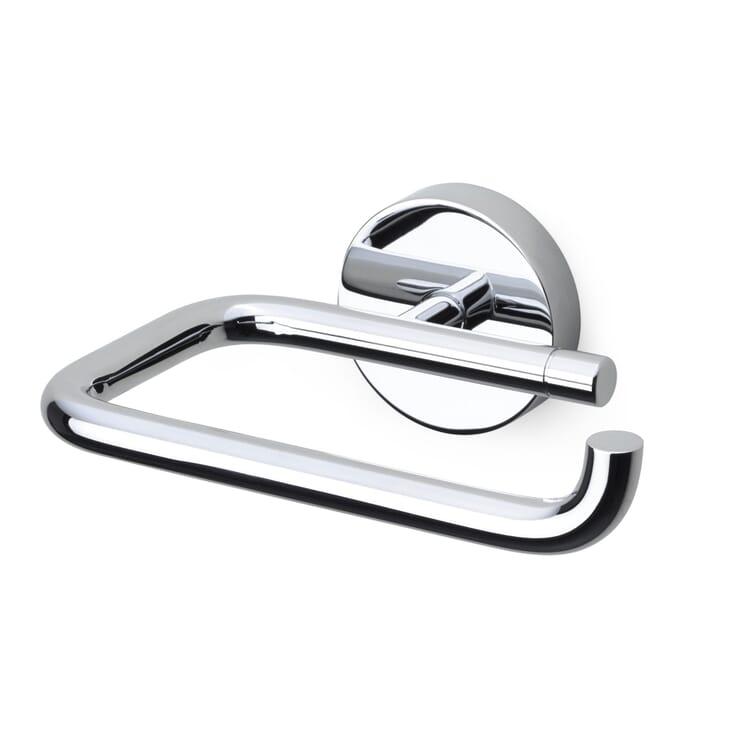 Toilet roll holder, brass, chromium-plated