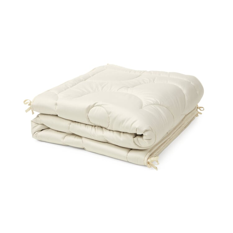 Bed Cover Combining Wild Silk and Camel Hair 155 x 220 cm