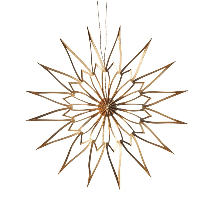 Paper Cut Star Golden Ø 9 cm