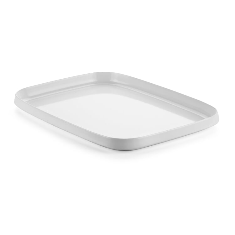Tray Made of Melamine Resin Small White