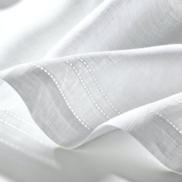 Half Curtain Linen Voile Wide 140 cm Height 60 cm