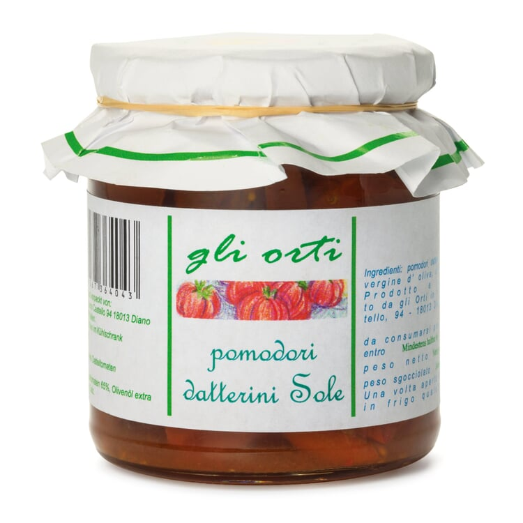 Halbgetrocknete Tomaten in Olivenöl