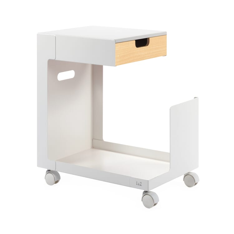 Rolling File Cabinet Ed, White