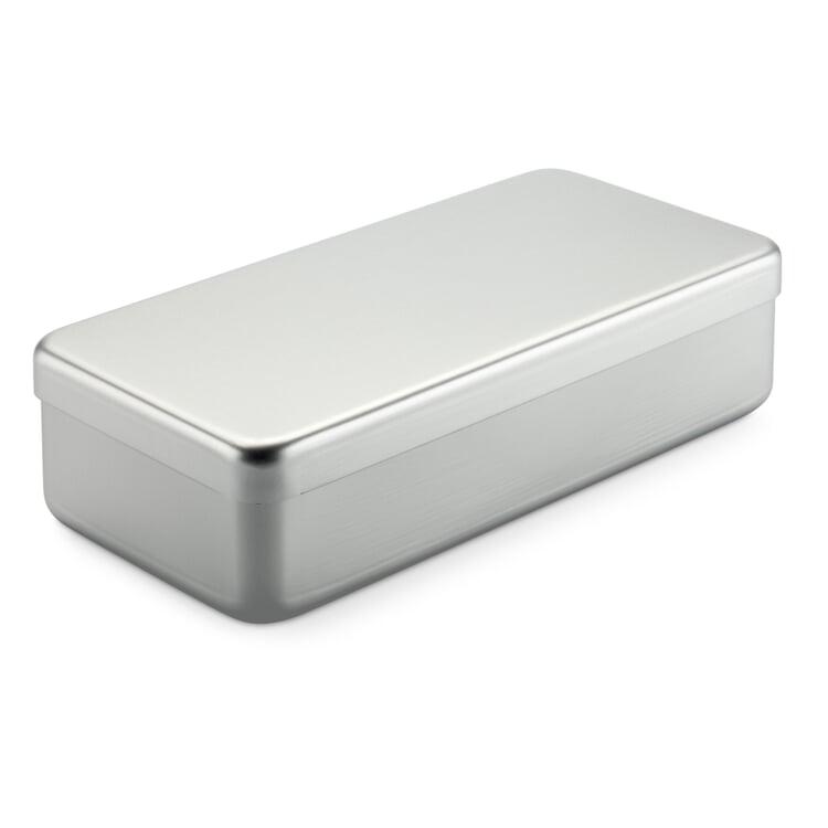 Kiste Alubox Hoch Silberfarben
