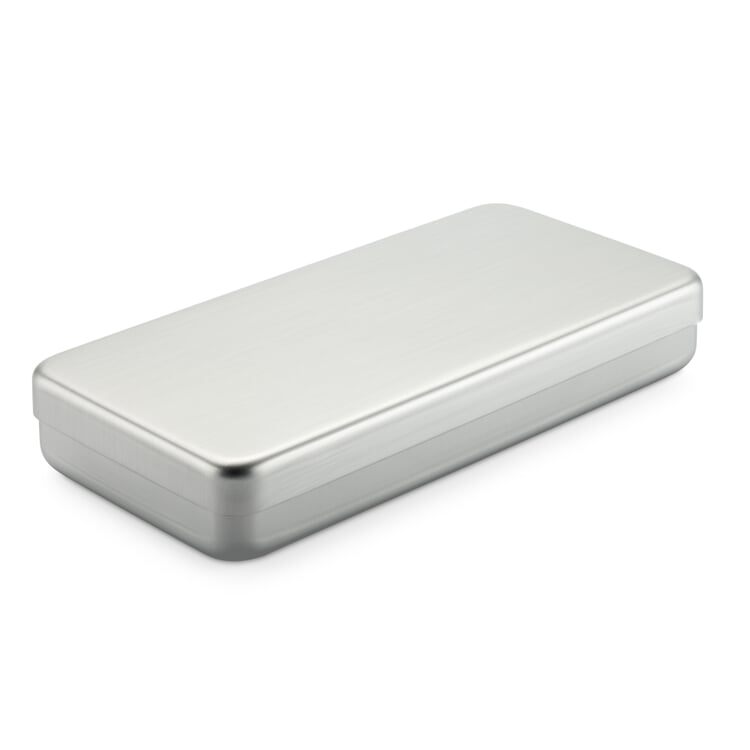 Kiste Alubox Flach Silberfarben