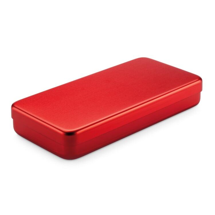 Kiste Alubox Flach Rot