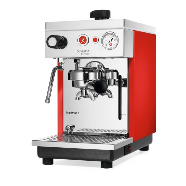Olympia Maximatic Semi-Automatic Espresso Machine, Red