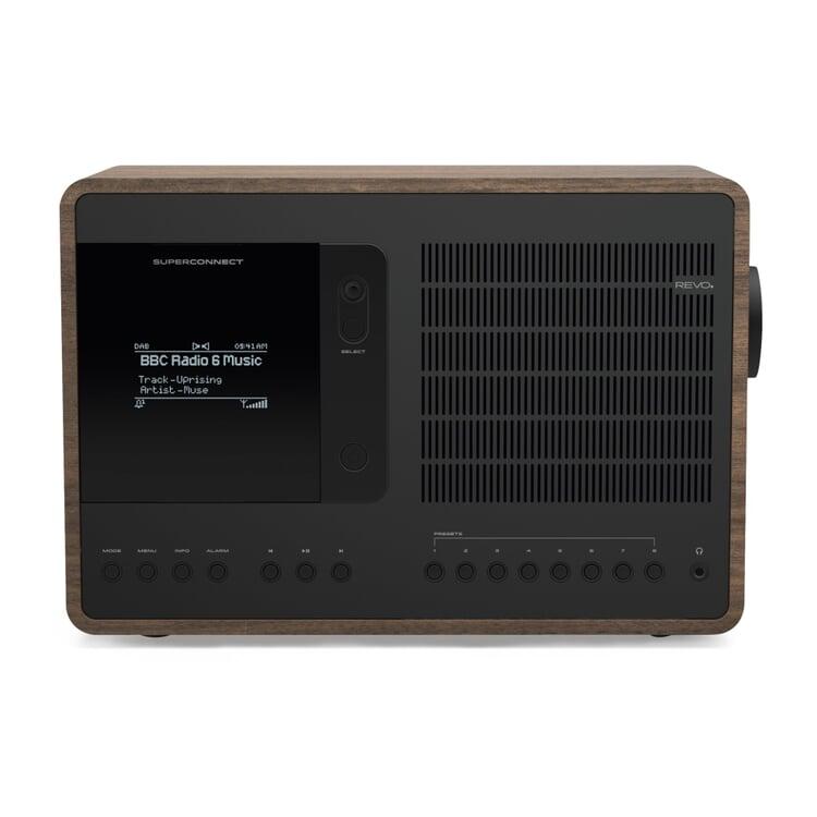 Radio Superconnect Walnuss / Schwarz