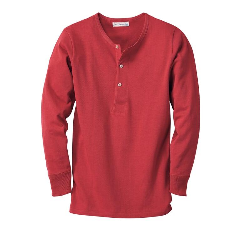 Merz b. Schwanen Herrenshirt Jersey Langarm Rot