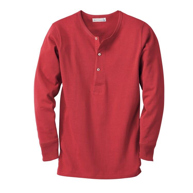 Merz b. Schwanen Herrenshirt Jersey Langarm, Rot