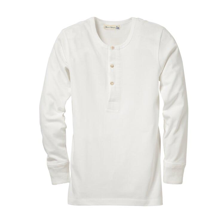 Merz b. Schwanen Herrenshirt Jersey Langarm Weiß