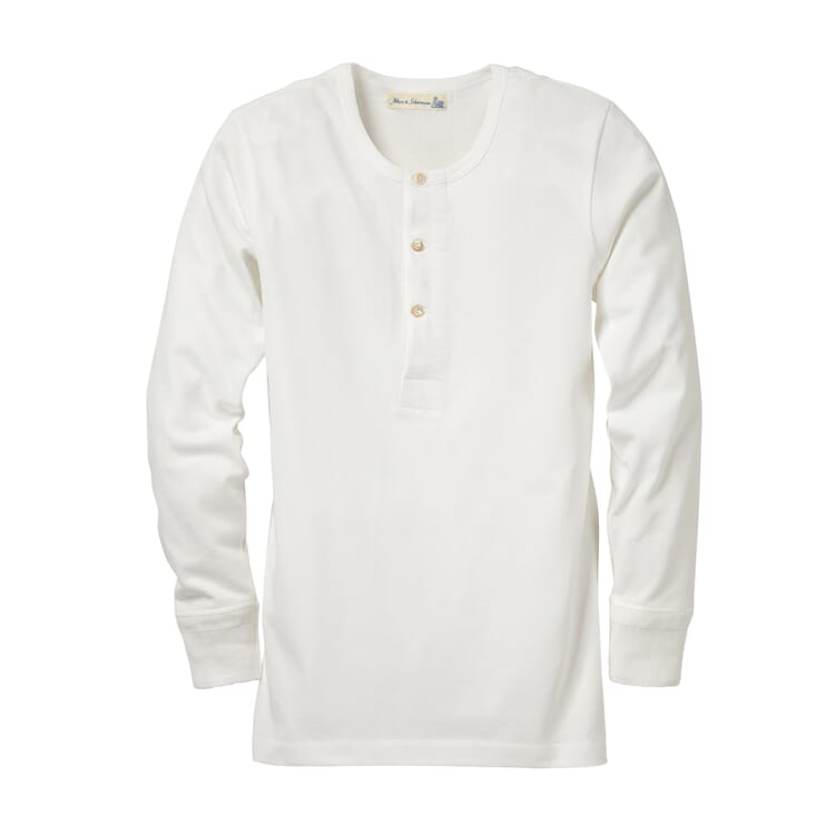 Merz b. Schwanen Herrenshirt Jersey Langarm, Weiß