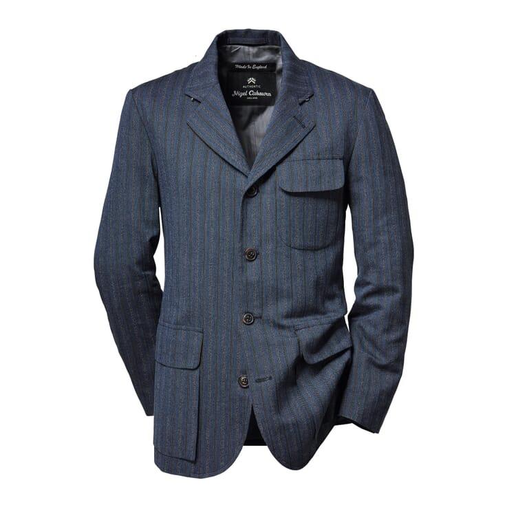 Nigel Cabourn Herrenjackett Baumwolle, Blau-Graumeliert