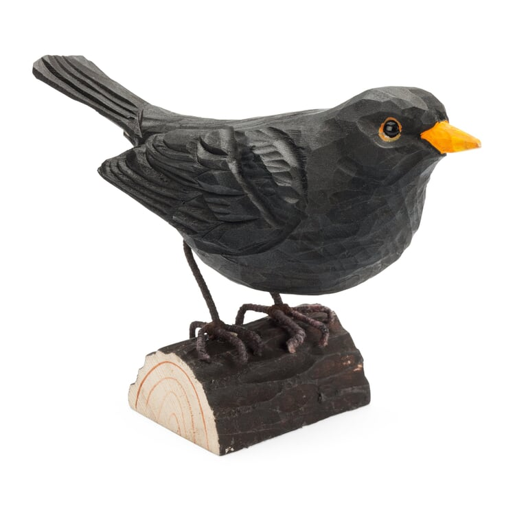 Blackbird Made of Lime Wood