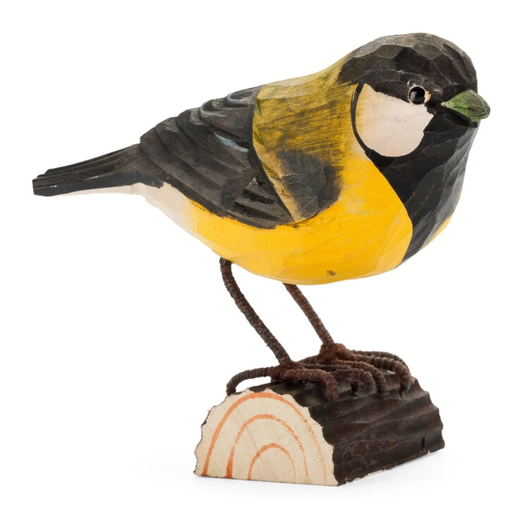 Great Tit Made of Lime Wood