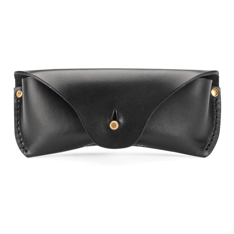 Saddle leather glasses case