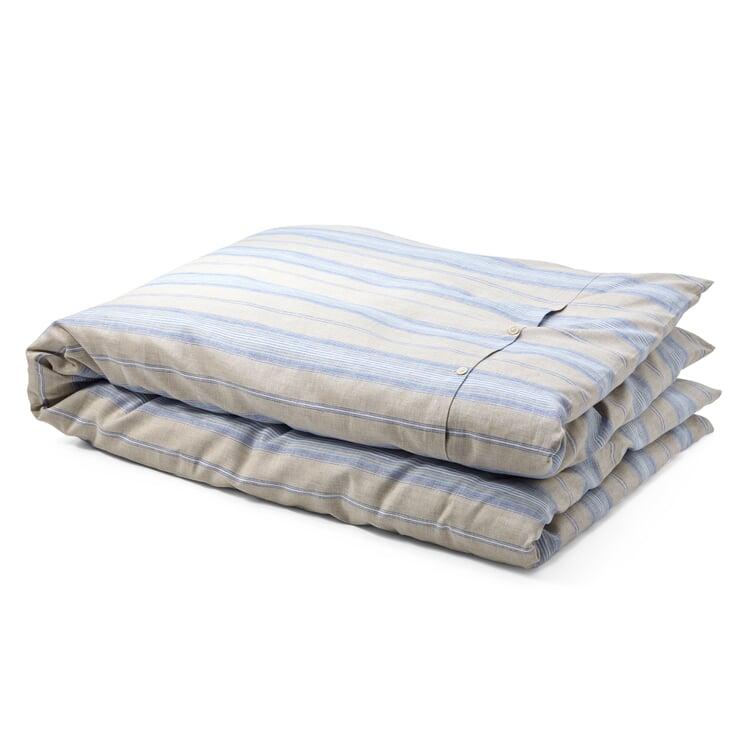 Bettbezug Leinen gestreift Blauer Streifen 135 x 200 cm