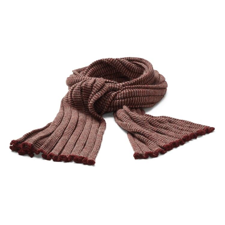McKernan Baby Alpaca Knit Scarf Red-Beige