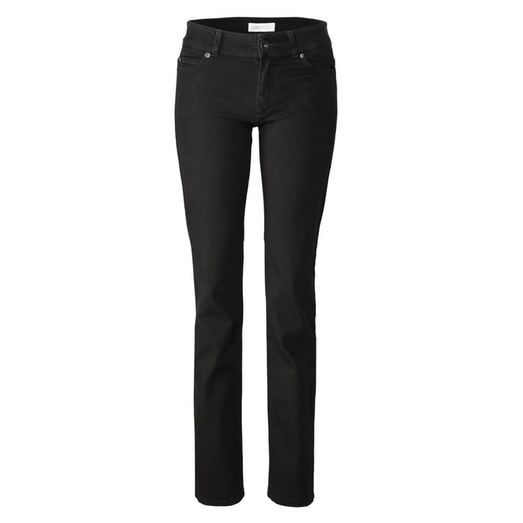 Goodsociety Damenjeans Straight, Schwarz