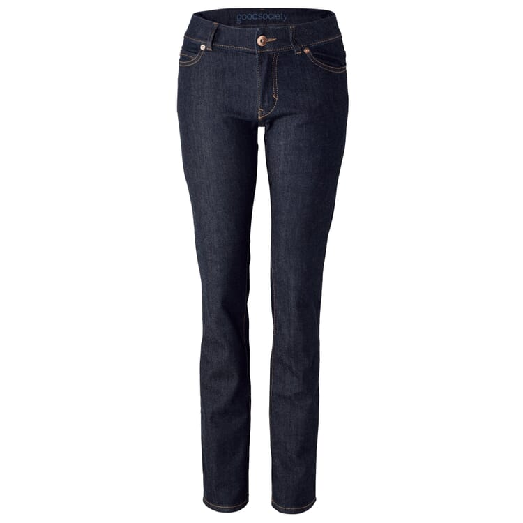 Goodsociety Damenjeans Straight, Denim