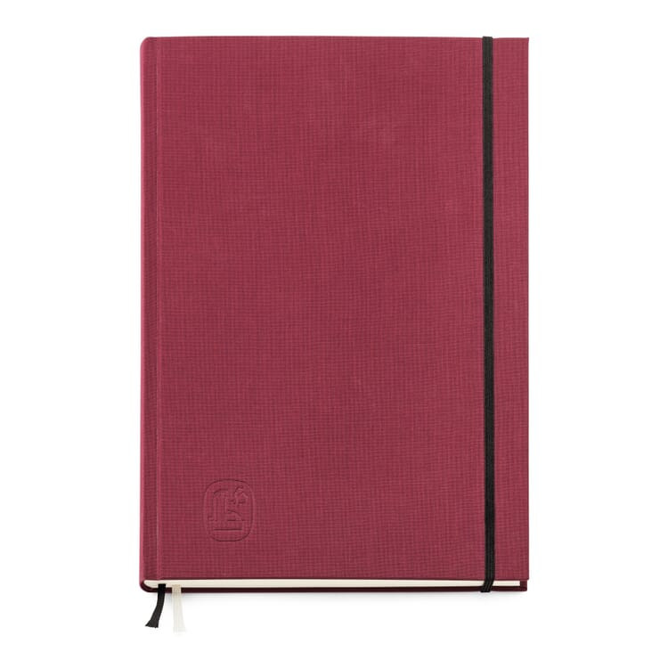 Memo Book with Cardboard and Linen Cover