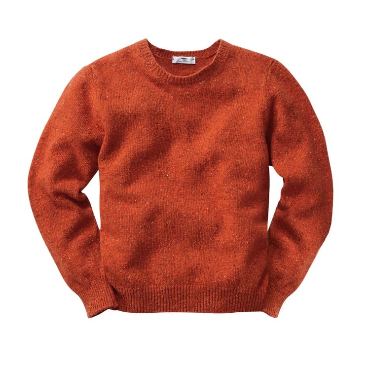 Inis Meáin Men's Donegal Sweater Orange